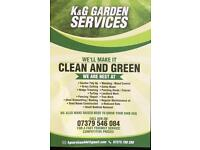 K&G GARDEN SERVICES GARDENS CUT FROM £10