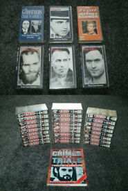 FULL SET OF 26 GREAT CRIMES OF THE 20th CENTURY VHS VIDEOS + BOOK + 6 BONUS VIDEOS