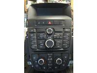 Vauxhall Astra J 2009-2015 radio stereo CD head unit Display and control panel