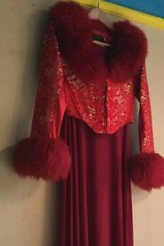 Chinese Oriental Boned Corset Style Evening Outfit