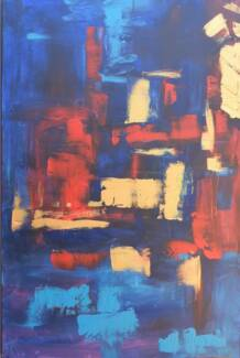 Stylish abstract canvas painting