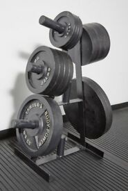 Complete Home Gym for Sale including Olympic Bars and Discs, Dumbbells and Power Rack