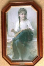 Print of the young seamstress