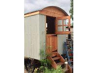 Shepherds Hut for sale. £10,500. New build to traditional design. Fully insulated and double glazed.