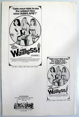 Waitress 1981 - 11x17 original press sheet