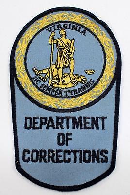 Rare Vintage Virginia Department of Corrections Embroidered Patch