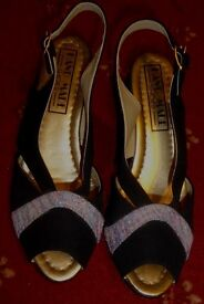 Woman's black and glittery party shoes Size 4 UK / 37 EU