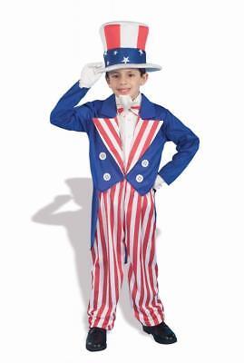 Jungen Kind Patriotisch 4th Juli Onkel Sam (Patriot Kostüme)