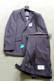 New Unworn With Tags Marks And Spencer M&S Slim Fit Suit. Black Dark Grey RRP £129
