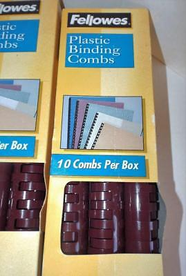Fellowes 52388 Plastic Binding Combs 1 200 Sheet Capacity 10 Pack Maroon