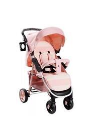 My babiie pink stripes billie faiers pushchair