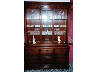 Old Charm Sideboard and Glass Display Unit - Exc Condition BARGAIN