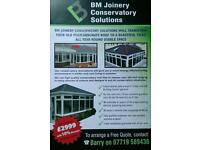 BM joinery Conservatory Solutions * Replace your old Conservatory roof from £2999*