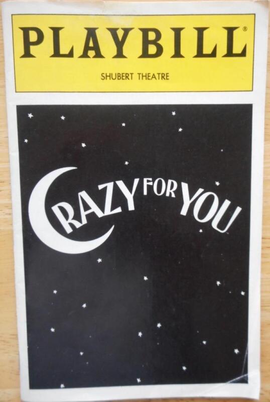 Crazy For You Playbill Karen Ziemba Harry Groener Carleton Carpenter Beth Leavel