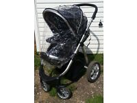 MAXI BABYLO BLACK PUSHCHAIR WITH RAIN COVER