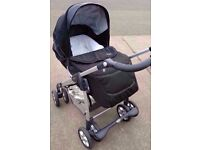 Silver Cross Linear Freeway Pram / Pushchair - Black from 0 to 3 years excellent condition