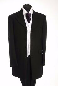 Mens Black Prince Edward Herringbone Wedding Jackets- ALL SIZES AVAILABLE £40.00
