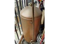 Old copper boiler tank