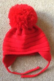 Satila Red Pom Pom Hat 12 - 18 Months - Cost £15 - Selling At £7