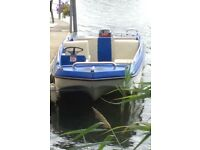 Day boat, fishng boat, work boat. 14ft cathederal hull dory with full canopy