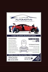 SPECIALISTS IN CAR BODY REPAIRS, CAR RESPRAYS, CAR DENT REMOVAL, SERVICING & MOT PREPARATION