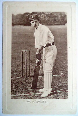 QUAIFE W. G - ENGLAND - WRENCH SERIES CRICKET POSTCARD