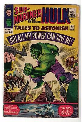 Marvel TALES TO ASTONISH 75 HULK SUB MARINER NAMOR GIANT MAN Avengers VG