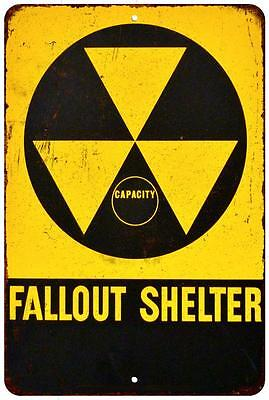 Fallout Shelter Vintage Look Reproduction 8x12 Metal Sign 8120551
