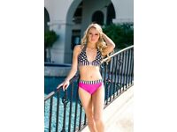 Pink and Black Polka Dot Bikini New!