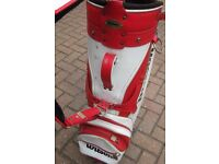 Red and White Golf Bag for sale
