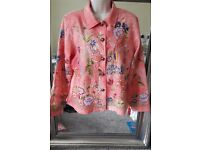 Indigo moon Womans Designer Pink and Floral jacket.