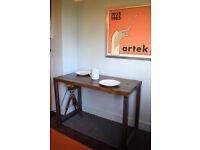Industrial Kitchen Table Mid Century Style Steel Legs