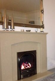 Solid marble fireplace surround