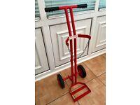 Weldability Sif BOC Style Gas Cylinder Trolley DZ1003619 Red Steel Heavy Duty