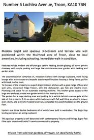 Excellent 3 bed house in the Muirhead area of Troon.
