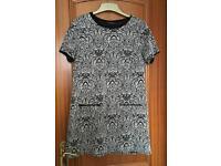 Dorothy Perkins black & white dress size 12