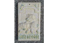 Concrete Dog Wall Plaque