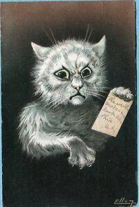 P4808 Ellam postcard, Cat with message, Series 534,  edge wear
