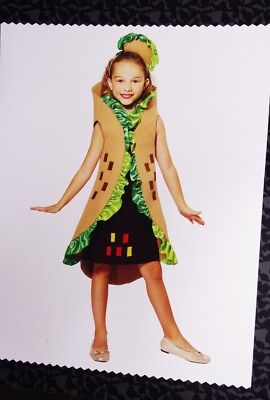 Kids Girls FUNNY Mexican Food BURRITO Taco Halloween Purim Costume M 8 L 12 NEW