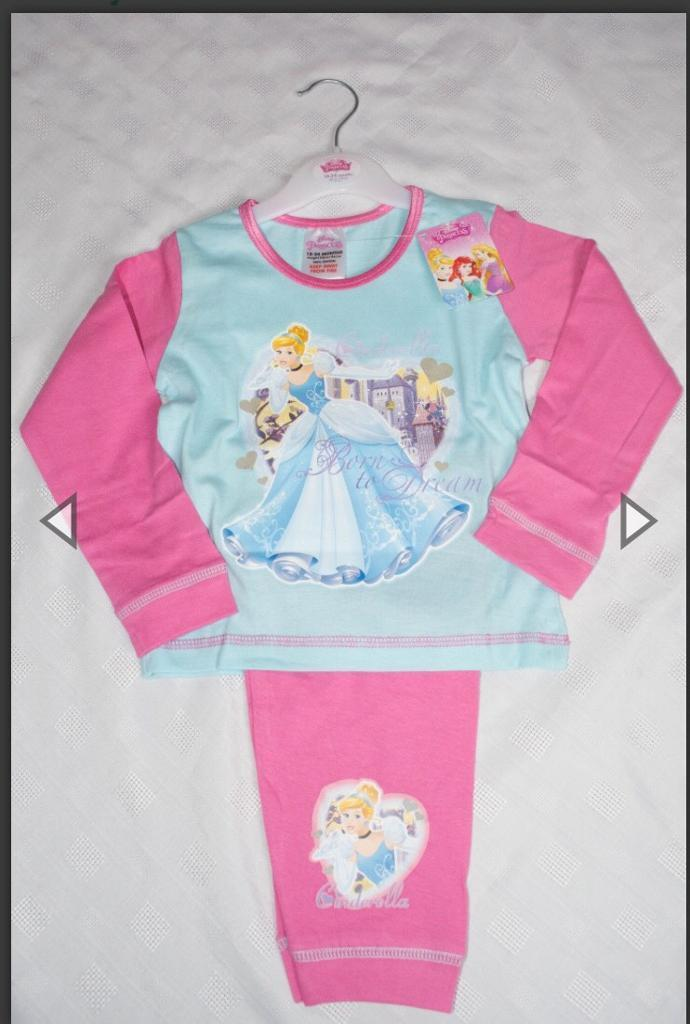 New Cinderella pyjamas 18-24,2-3,3-4 & 4-5