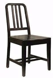Set of 4 EMECO design style dining chairs- dark brown wooden Ex Display