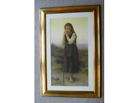 FRAMED PICTURE OF YOUNG GIRL