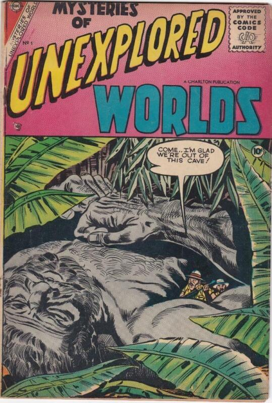 Unexplored Worlds #1  Charlton Comics (1956)