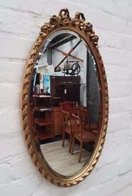 Oval Gilt Mirror (DELIVERY AVAILABLE)