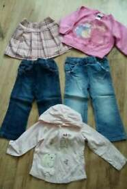 Girls jeans, skirt, jumper age 2-3 years