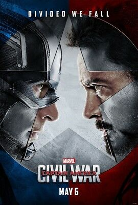 Captain America Civil War Movie Poster 2 Sided Original Advance Nm 27X40