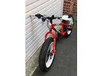 "Indi Mulefa Boys Kids Fat Bike Red Steel Frame 20"" Inch Wheels Disc Brakes new PRP 300£"