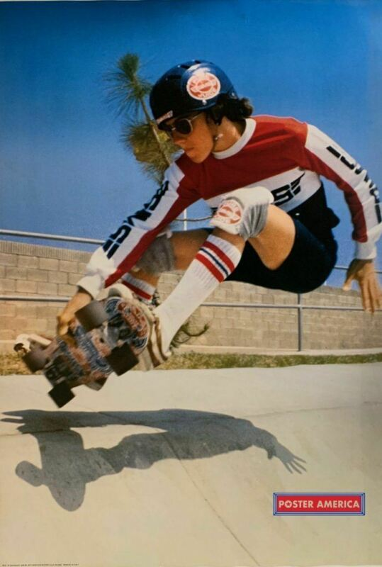 Italian Skateboarding Rare 1978 Vintage  Skateboard Poster 27 x 39