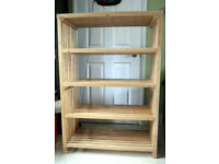 real wood shelf very sturdy