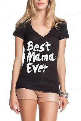 Best Mama Ever Paint Women's V-Neck Mother's Day Gift New Mom Best Mom T-Shirt - Best Women